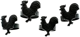 Rooster Napkin Rings, Set of 4