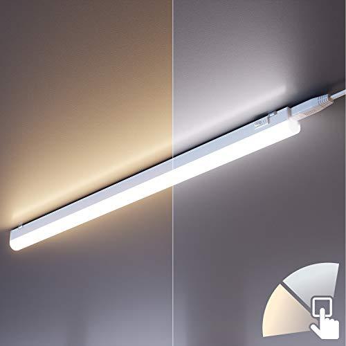 ledscom.de LED Unterbau-Leuchte RIGEL, 57,3cm, Farbtemperatur einstellbar (3000K / 4000K), 8W, 800lm
