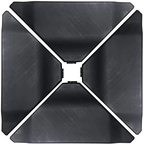 Abba Patio 4Pcs Offset Umbrella Base Plastic Cantilever Base Weights Plate Set, Water&Sand Filled Umbrella Base for Cantilever Offset Patio Umbrella, 180lb Black