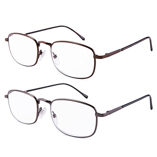 EYEGUARD High Magnification Power 2 Pairs Spring Hinge Reading Glasses Ultra Clear Men & Women Reader(+4.50+5.00 +5.50+6.00) 10 Pair Reading Glasses