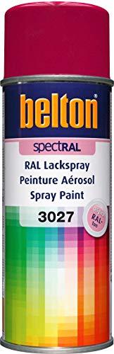Belton SpecRAL Peinture en spray RAL 3027 Rouge framboise brillant 400 ml – Qualité professionnelle