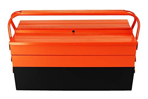 Caja de herramientas de metal con 5 compartimentos 53 cm de grosor 4 mm