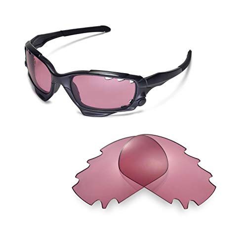 Price comparison product image Walleva Replacement Vented Lenses for Oakley Jawbone Sunglasses - 22 Options (Pink)