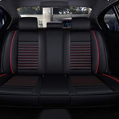 XKMY Juego completo de fundas universales para asiento de coche de piel sintética para asiento delantero y trasero (color: 1)