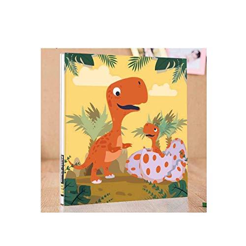 ZTMN fotoalbum, groeialbum voor babykinderen, handbedekte filmpasta in jeugdmode-stijl (biedt ruimte voor 400 foto's, geel) (kleur: geel)