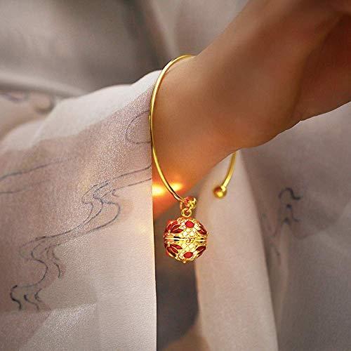 Oude wind bel ring meisje andere kust bloem kinderen Han kleding Chinese stijl gift retro open armband