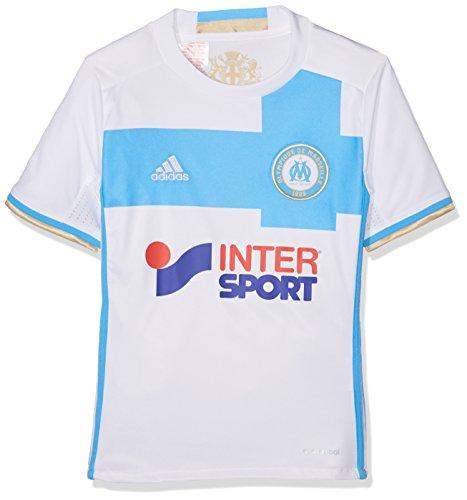 adidas Kinder Olympique Marseille Heim Replica Trikot, White/Om Blue/Light Football Gold, 176