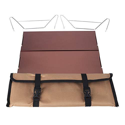Alomejor tragbare Metall abnehmbare Indoor Outdoor Picknick Schreibtisch Klapptisch zum Wandern Camping