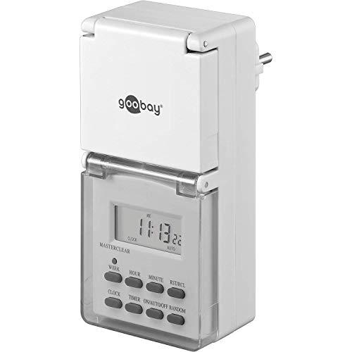 Goobay 51301, Temporizador semanal digital temporizador control precisamente para aparatos electrónicos, Blanco