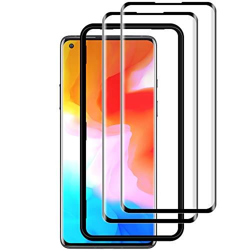 WOYAOY OnePlus 8 Panzerglas(2 Pack)(Einfache Installationsablage) 3D Volle Bedeckung/9H Festigkeit/Ultra-klar/Hüllenfre&lich Panzerglas für OnePlus 8