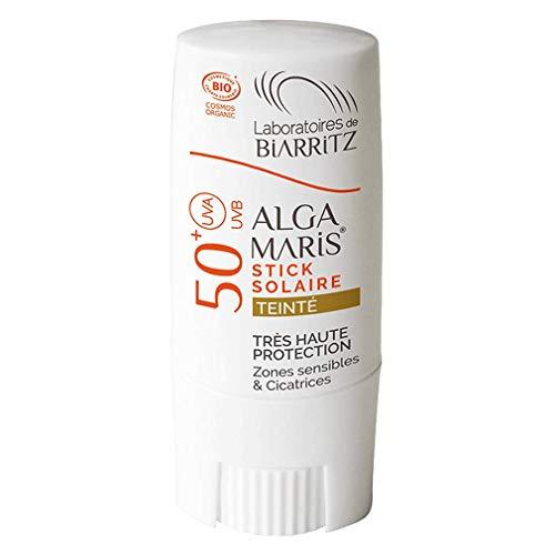 Laboratoires de Biarritz Alga Maris Alga Maris Organic Sunscreen Stick SPF50+ tinted