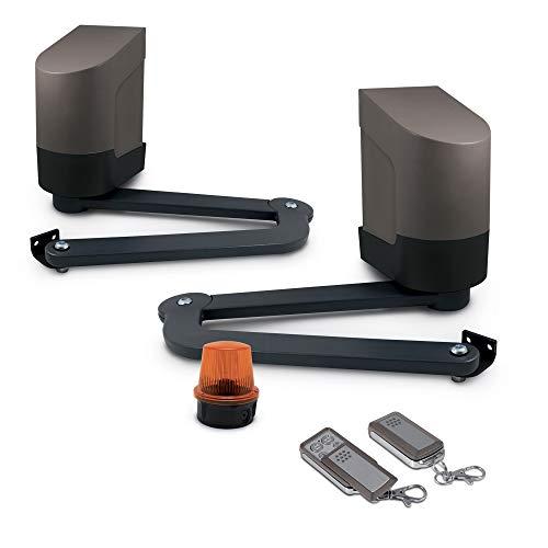 Avidsen - Motorisation Automatique pour Portail à 2 Battants/Ouvrants (Bois, Fer, Alu ou PVC) Orane 400 - pour Portail Plein, Ajouré ou semi-Ajouré de 400kg Max et 5M Max