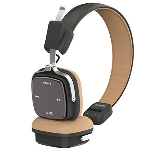 boAt Rockerz 600 Bluetooth Headphone with Luxurious Sound, Plush Earcushions, Foldable Ergonomic Design and Up to 20H Playtime (Brown)