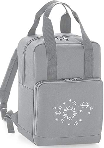HippoWarehouse Sun Star Space Pattern Premium Twin Handle Backpack School College Bag 28 x 38 x 12cm 14 litres
