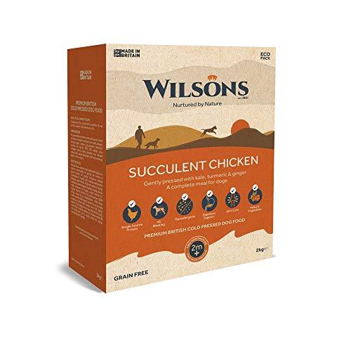 NEW! Wilsons Premium British Cold Pressed Dog Food   Succulent Chicken 2kg...