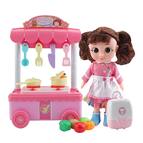 Zhoe 2021 Kids Kitchen Pretend Play Toys Cookware - The Cooking Set Accessory Kitchen Tools Children Toy for Girls Boys