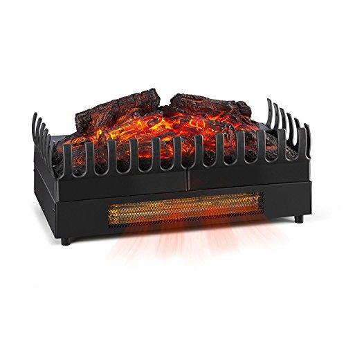 Klarstein Kamini FX Chimenea eléctrica - Estufa eléctrica, Calefactor, Ilusión de Llamas, Iluminación LED de 2W, 1000 y 2000W, Opción Solo iluminación, Negro