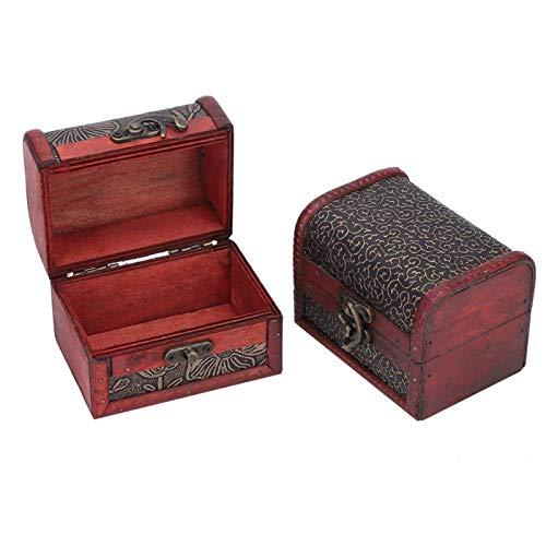SALUTUYA Caja de Almacenamiento de joyería de decoración Hermosa de Madera de 2 Piezas para Guardar o exhibir Pulseras para Viajes en casa o al Aire Libre