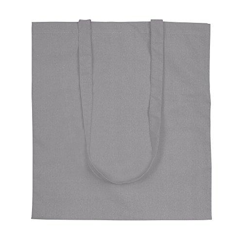 eBuyGB boodschappentas/schoudertas, katoen, grijs, papier x 28,7 x 3,99 cm