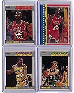 1987 / 1988 Fleer Basketball Complete Set 132 Cards Plus Stickers