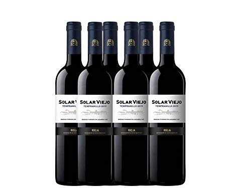 Solar Viejo - Vino Tinto - 750 ml - Pack de 6 botellas - 4500ml