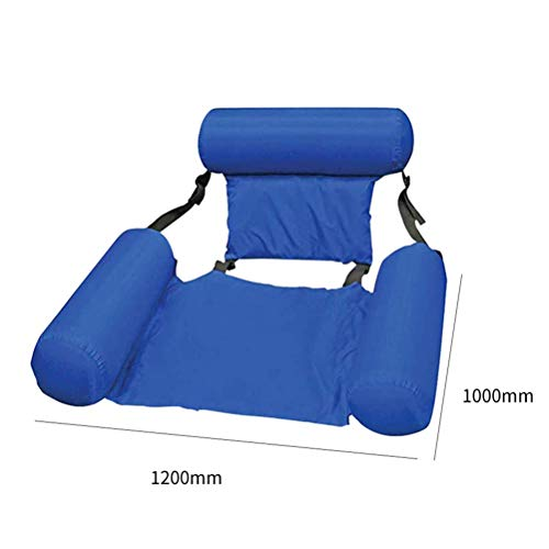 Pool Float Inflatable, Water Hammock Lounge Floating Bed Lounge Chair, Summer Foldable Inflatable Pool Chair, Swimming Bed Float Pool Lounger, Drifter Swimming Pool Beach Float Chair