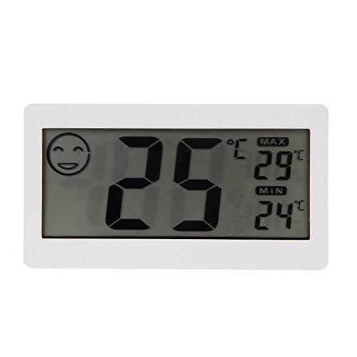 """Goliton 3.3"""" LCD Mini Digital Innenhaupt Thermometer Hygrometer Temperatur- und Feuchtigkeitsmessgerät - Weiß"""
