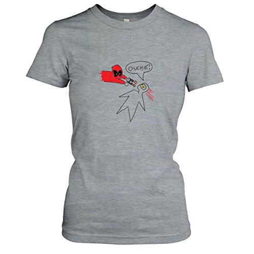 Texlab dames zwembad tekening T-shirt grijs gemêleerd, S
