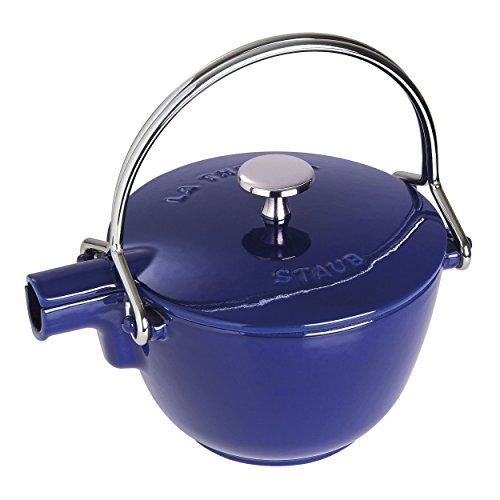 Staub 40510-618-0 Tee-Wasserkessel, rund, 16,5 cm, Gusseisen, dunkelblau