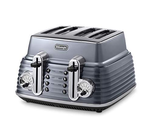 De'Longhi Scultura CTZ4003GY 4-Slice Toaster - Grey