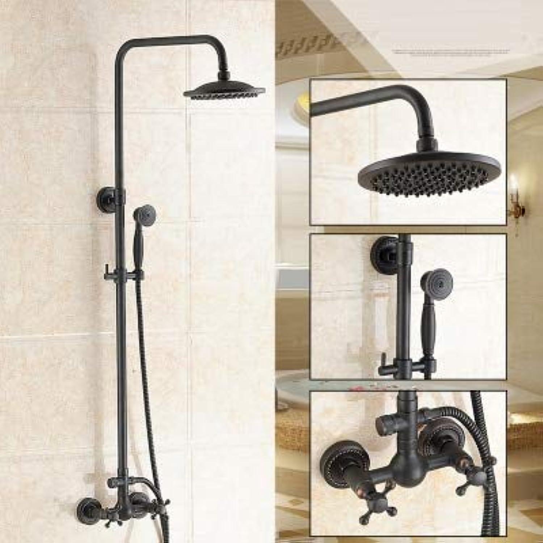Dofaso Bad Retro schwarz Bronze Dusche Wasserhahn klassische Dusche Set Wand montiert 8 Regendusche Mischbatterie Antik, R1
