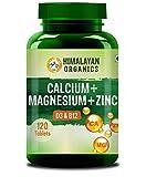 Himalayan Organics Calcium Magnesium Zinc Vitamin D3 & B12 120 Vegetarian Tablets
