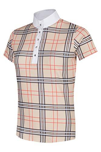 WAGNER Turniershirt, Reitshirt, Turnierbluse, Reitbluse, Competition Shirt (Beige, S)