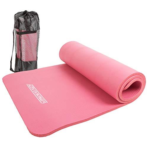 ActiveVikings® Gymnastikmatte - Ideal für Dein Workout zuhause oder im Gym - Fitnessmatte Sportmatte Yogamatte für Frauen und Männer 183 X 61cm 15mm (Pink)
