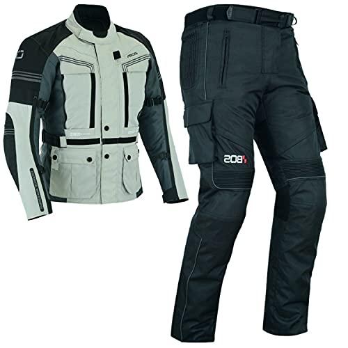 BOSmoto 2-teiler Motorradkombi Cordura Textilien Motorradjacke + Motorradhose, (5XL)