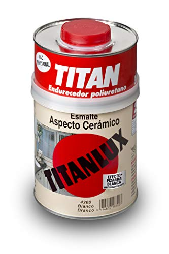 Titan M60103 - Esmalte aspecto ceramica blanco satinado 750 ml
