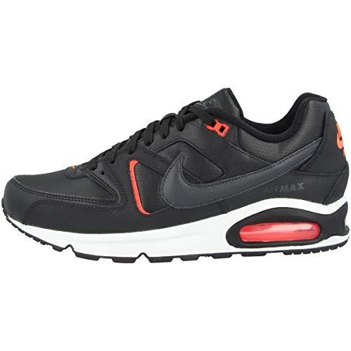 Nike Air MAX Command, Zapatillas para Correr Hombre, Black Dk Smoke Grey BRT Crimson White, 45.5 EU