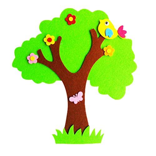 Amosfun Enfants senti Arbre Creative Wall Sticker Big Banyan Tree Cartoon Wall Decor pour la fête de la Maternelle favorise Noël Cadeau de Pâques pour Les Enfants