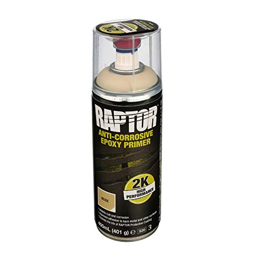 !NEU! RAPTOR 2K-Spray Epoxy Primer Anti-Corrosive Grundierung UPOL beige 400ml