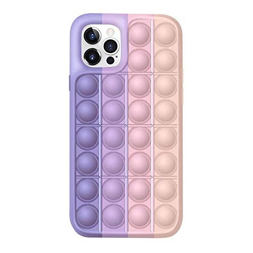 Caja del teléfono de los juguetes de la persona agitada,Funda protectora Push Pop Bubble para aliviar el estrés sensorial para iPhone 12 11 Pro Max-5_para iphone 12 pro max
