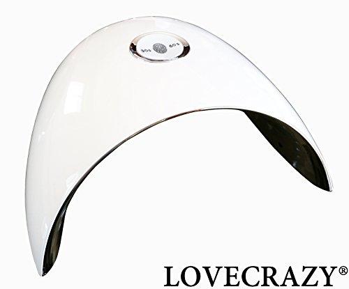LOVECRAZY® 48W UV Lámpara de Luz LED Secador de Uñas de Gel con Temporizador, Sensor para Uñas de Gel (Blanco)