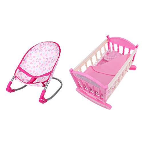 SM SunniMix Baby Doll Hamaca Silla Cama Cuna Modelo Cuna | de Los Niños del Juguete del Juego de Los Muebles de Los Niños | Accesorios para Muñecas Reborn de 9-12