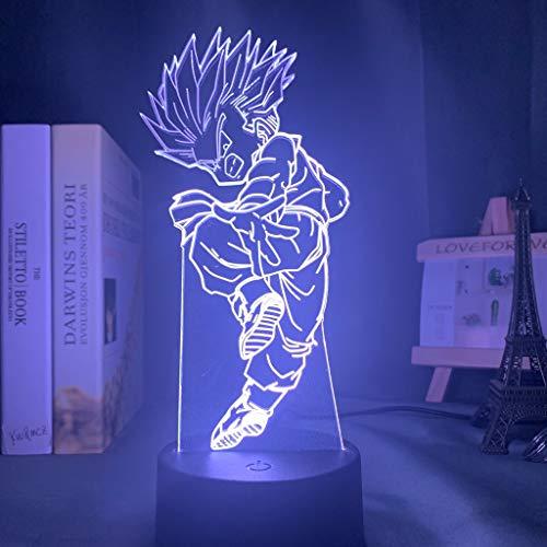 Anime bunte Dragon Ball Super LED Kinder Nachtlicht Kinderzimmer Dekoration Lampe Dragon Ball Z Tischlampe Geschenk