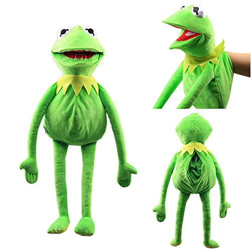Natseekgo The Frog Puppet,23.6 inch Kermit The Frog Hand Puppet Plush Toy Doll Stuffed Parent-child interactive games children's educational toys (Large)