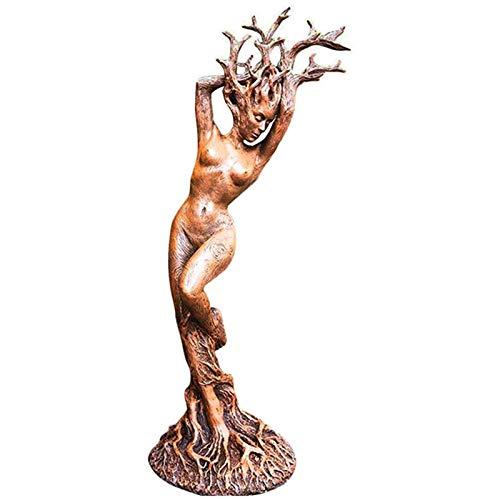 LOVOICE Estatua de jardín de la diosa del bosque o diosa del árbol, de resina, para jardín, césped o terraza