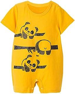 HINK Mameluco y Mono para niños, niños pequeños, bebés, niñas, niños, Estampado de Dibujos Animados, Mono, Mameluco, Trajes