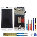 litu LCD Pantalla unidad completa para OnePlus 3Three A3000a30035.5OnePlus 3T a3010+ Marco Reparación Color Blanco