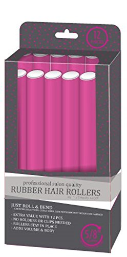 My Beauty Spot Professional Salon Quality Rubber Hair Rollers (Pink)