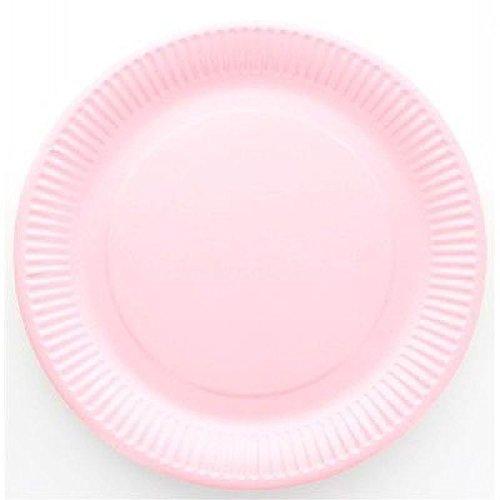 Assiette jetable X10 - Rose - diam 23 cm