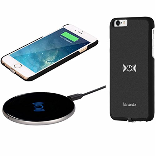Caricabatterie Wireless Kit per iPhone 6, Hanende [Sleep-Friendly] Qi Wireless Charging Pad e ricevitore Wireless Custodia per iPhone 6